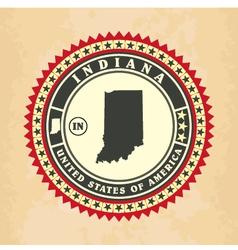 Vintage label-sticker cards of Indiana vector image