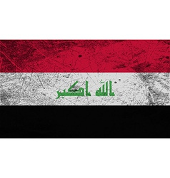Flag of iraq with old texture vector