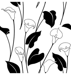 calla pattern black vector image