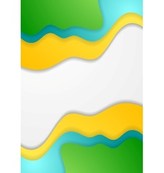 Bright corporate waves concept background vector
