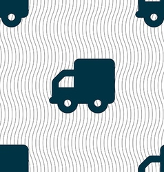 Delivery truck icon sign seamless pattern with vector