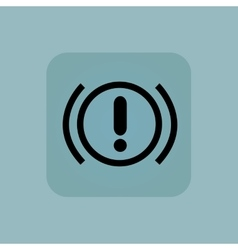 Pale blue alert icon vector