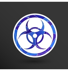 sign radiation icon caution nuclear atom vector image