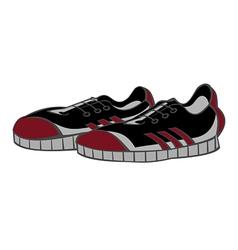 sneakers black vector image