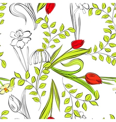 romantic seamless wallpaper vector image