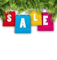 Abstract Background with Christmas Shopping Sale vector image