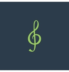 Music note sheet key vector