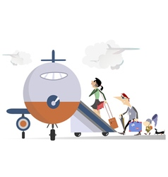 Family travel vector