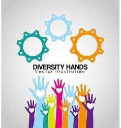Diversity hands design vector
