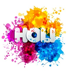 Holi spring festival of colors design element and vector