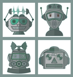 02 head robot design vector