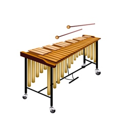A musical vibraphone isolated on white background vector