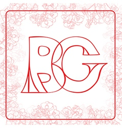 Bg monogram vector