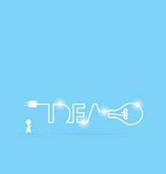 businessman and light bulb idea vector image vector image