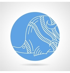 Butterflyfish round icon vector image