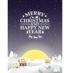 Christmas vintage greeting card on winter vector image vector image