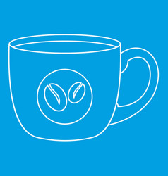 Coffee cup icon simple style vector