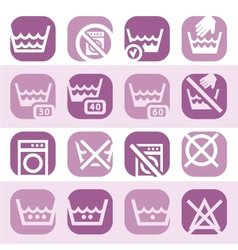 color cleaning icons vector image vector image