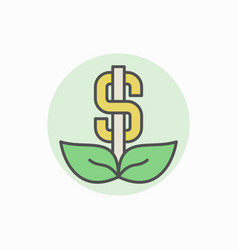 Colorful dollar icon vector