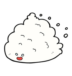 Comic cartoon cloud character vector
