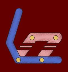 Flat shading style icon snowboard binding vector
