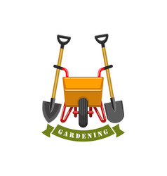 gardening planting work tools icon vector image