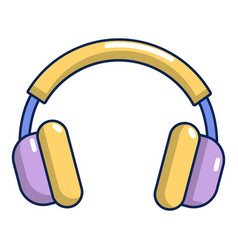 Headphones icon cartoon style vector
