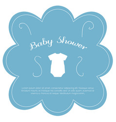 Isolated baby shower label vector