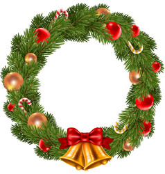 Isolated christmas wreath vector