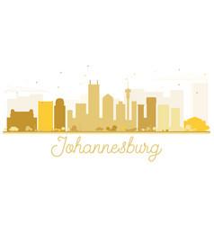 johannesburg city skyline golden silhouette vector image
