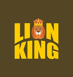 Lion King Wild predator and crown Royal hat and vector image