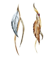 Nice feather vector image