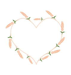 Orange Sage Flowers in A Heart Shape vector image vector image