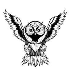 Owl Fly vector image
