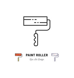 Paint roller icon repair home building tools vector