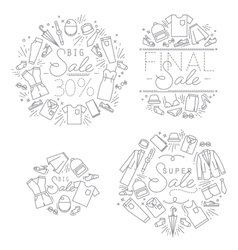 Sale monograms white vector image vector image