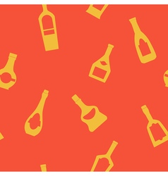 Seamless background with bottles vector image