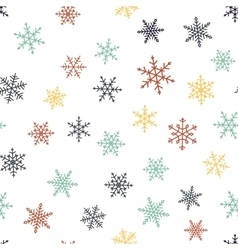 Seamless pattern - snowflakes vector image vector image