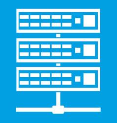 Servers icon white vector