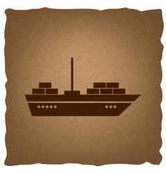 Ship sign Vintage effect vector image vector image
