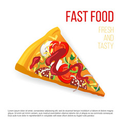 slice of pizza vector image vector image