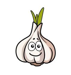 Smiley faced garlic bulb vector