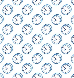 Stylish clock seamless pattern vector image vector image