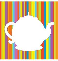 Tea pot menu funny background vector image vector image