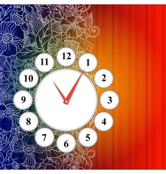 time icon background vector image