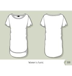 Women tunic template for design easily editable vector