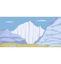 Ice land vector