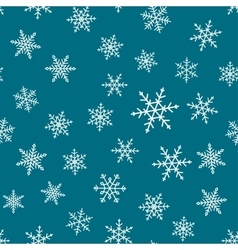 Seamless pattern - snowflakes vector