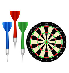 Accessories for the game of darts vector