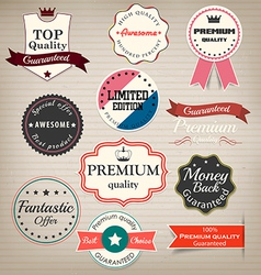 prenium quality labels vector image